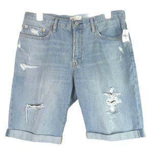 """Gap No Stretch 10"""" Mid Rise Denim Shorts Size XL"""